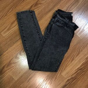 PacSun Faded washed black jean jeggings